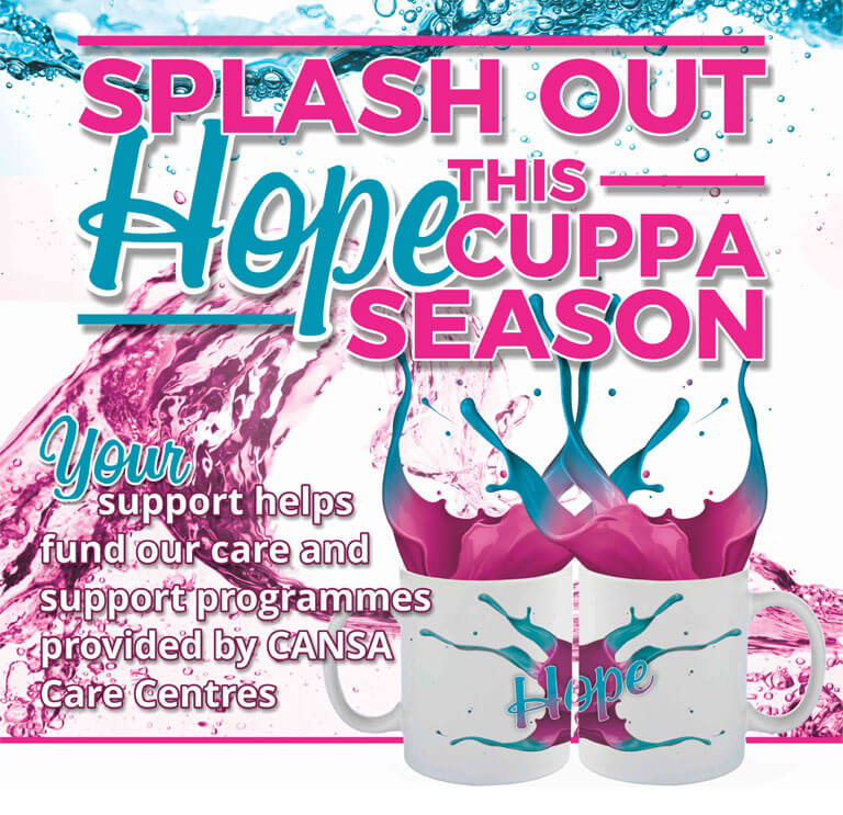 Splash out Hope - Host a Cuppa For CANSA